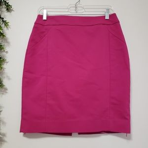 H&M neon pink pencil cut skirt size 8